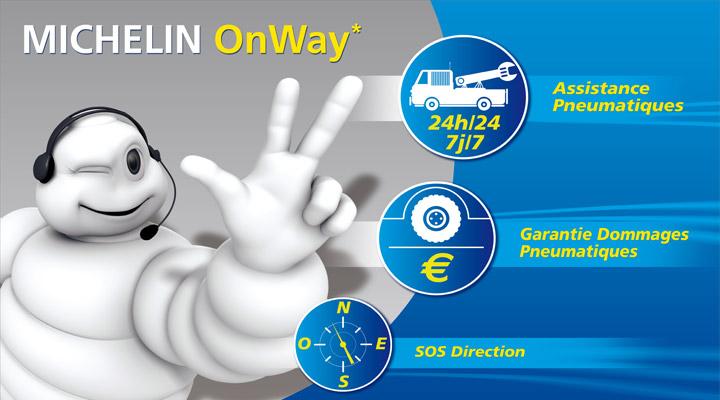 L'offre Michelin OnWay, recevez 20€ ou 50€ pour vos achats sur Allopneus