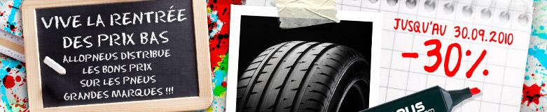 Achetez vos pneus à bas pris sur Allopneus