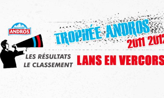 [Trophée Andros] Les résultats du week-end Lans en Vercors 2011 – 2012