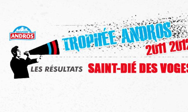 [Trophée Andros] Les résultats du week-end Saint-Dié des Voges 2011 – 2012