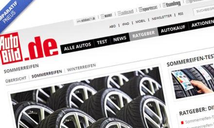 Comparatif pneu été 2012 en 225/45R17 par l'Autobild. 15 pneus testés