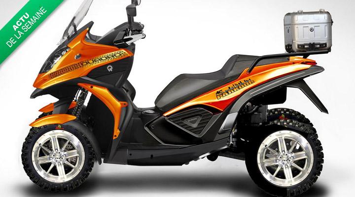 La moto à 4 roues. Faudrait voir à pas pousser mémé dans les orties !