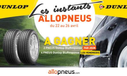 Allopneus vous fait gagner des pneus Dunlop BluResponse