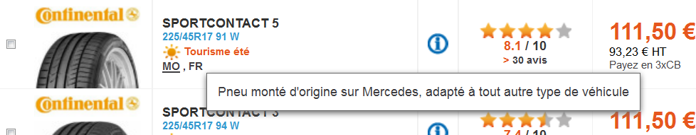 Pneu Mercedes