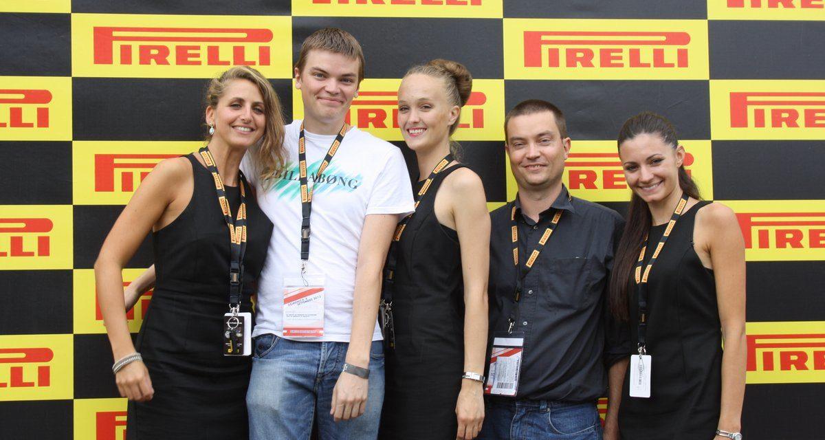 Un weekend au GP de Monza avec un client Allopneus et Pirelli.