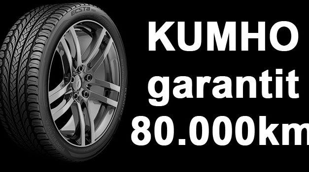 Kumho, le seul manufacturier qui vous garantit 80.000km de longévité