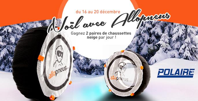 [Edito #74] Jeu concours : Noël avec Allopneus, 2 paires de chaussettes neige à gagner par jour.