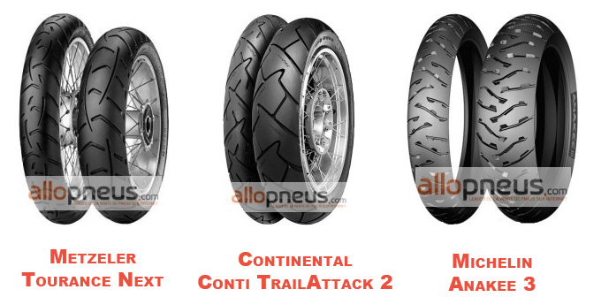 Voici les 3 pneus trains testés