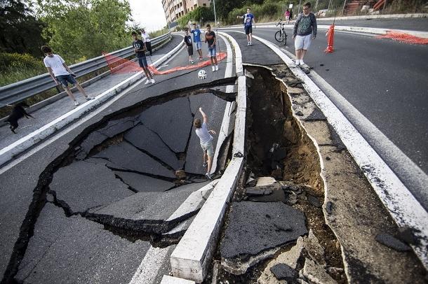 route détruite