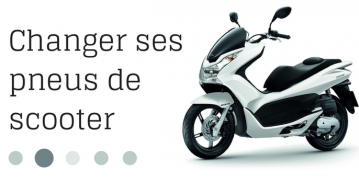 Changer ses pneus de scooter