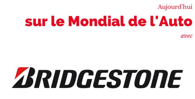 [INTERVIEW] BRIDGESTONE sur le Mondial de l'Auto 2014