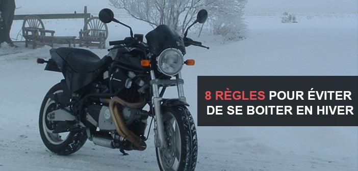 Les 8 règles pour éviter de se boiter en hiver en moto et scooter