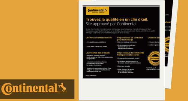 Edito #95 : Site approuvé par Continental