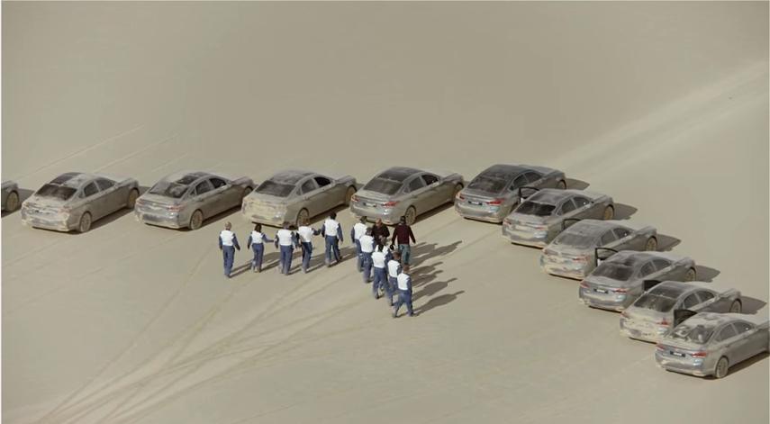 Hyundai laisse la plus grosse «trace de pneus» sur terre