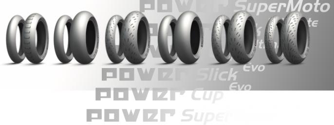 De gauche à droite : SuperMoto, Slick Ultimate, Cup Ultimate, Slick Evo, Cup Evo, SuperSport Evo