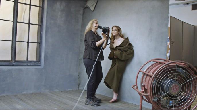 Natalia Vodianova avec la photogaphe Annie Leibovitz