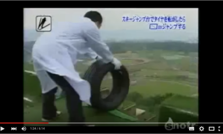 Saut à ski version pneu chez les Japonais