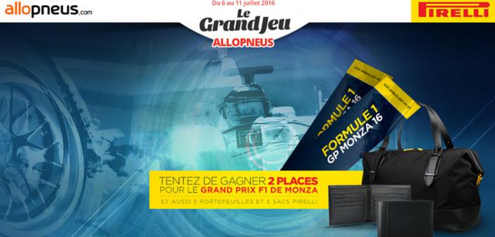 Grand Jeu Allopneus avec Pirelli autour du Grand Prix de Monza
