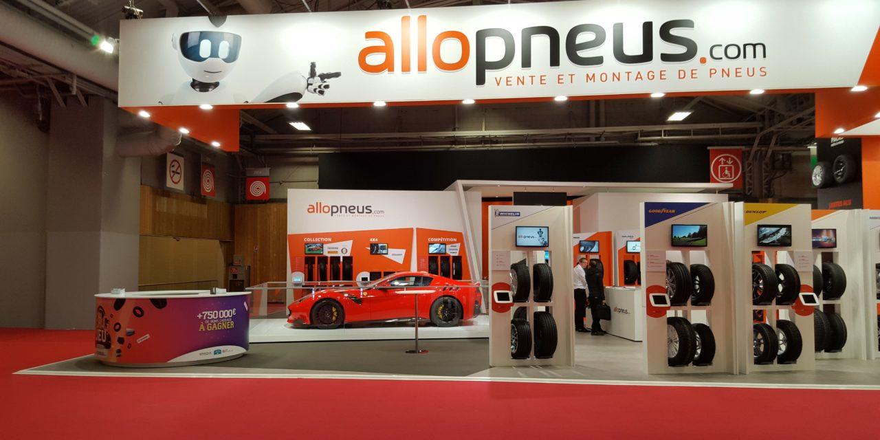 Le stand Allopneus au Mondial de l'Automobile 2016
