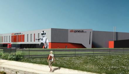En 2017, Allopneus.com construit un 2ème entrepôt !