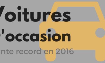 Voiture d'occasion : vente record en 2016
