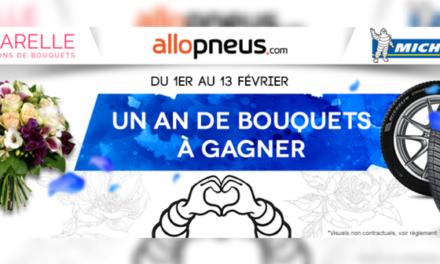 Jeu concours avec Michelin et Aquarelle pour la Saint Valentin