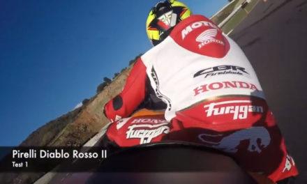 Freddy Foray teste le Pirelli Diablo Rosso IIII