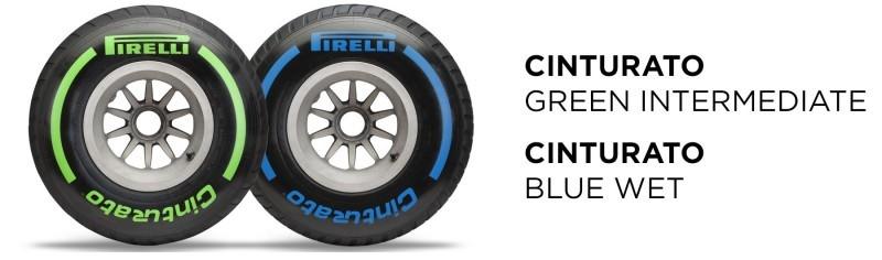 Les pneus Pirelli intermédiaire et pluie
