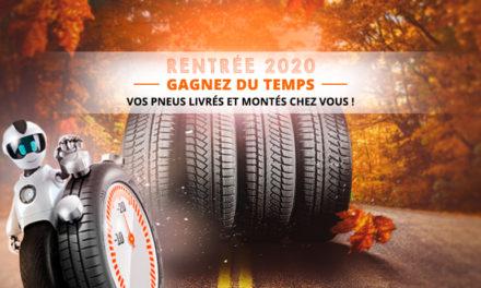 Gagnez du temps à la rentrée, faites monter vos pneus à domicile !
